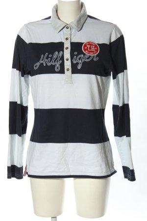 Tommy Hilfiger Polo-Shirt weiß-schwarz Streifenmuster Casual-Look
