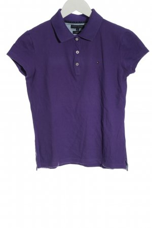 Tommy Hilfiger Polo-Shirt lila Casual-Look