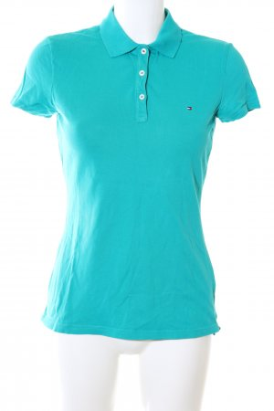 Tommy Hilfiger Camiseta tipo polo turquesa look casual