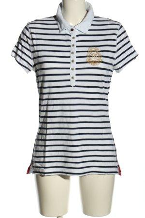 Tommy Hilfiger Polo-Shirt weiß-blau Schriftzug gedruckt Casual-Look