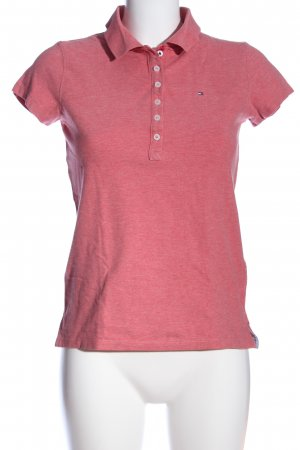 Tommy Hilfiger Polo-Shirt rot meliert Casual-Look