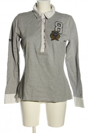 Tommy Hilfiger Rugby Shirt light grey flecked casual look