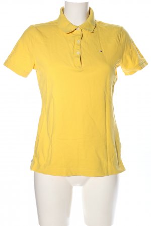 Tommy Hilfiger Polo-Shirt blassgelb Casual-Look