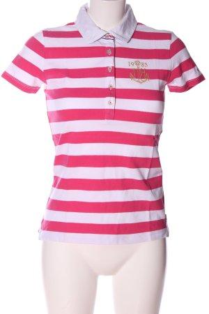 Tommy Hilfiger Koszulka polo różowy-biały Na całej powierzchni
