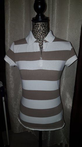 Tommy Hilfiger Polo Shirt white-light brown cotton