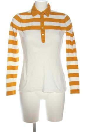 Tommy Hilfiger Polo-Shirt weiß-hellorange Streifenmuster Casual-Look