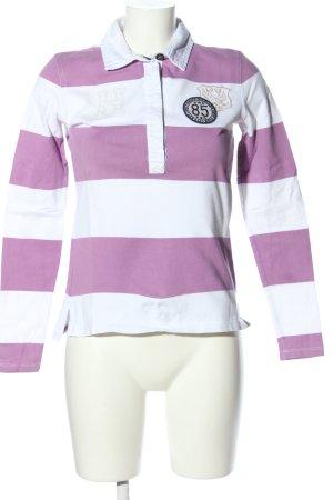 Tommy Hilfiger Polo-Shirt lila-weiß Schriftzug gestickt Casual-Look