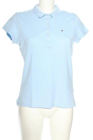 Tommy Hilfiger Polo-Shirt türkis Schriftzug gestickt Casual-Look