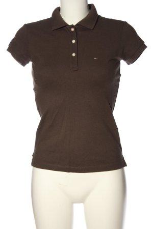 Tommy Hilfiger Polo-Shirt bronzefarben Schriftzug gestickt Casual-Look