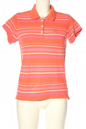 Tommy Hilfiger Polo-Shirt hellorange-pink Streifenmuster Casual-Look
