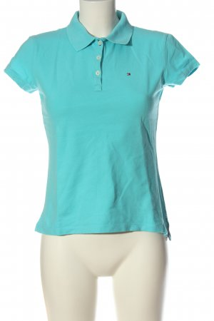 Tommy Hilfiger Polo-Shirt türkis Casual-Look