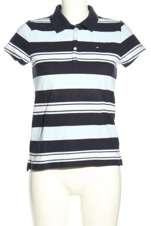 Tommy Hilfiger Camiseta tipo polo negro estampado a rayas look casual