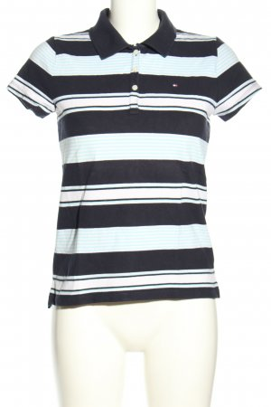 Tommy Hilfiger Polo-Shirt schwarz Streifenmuster Casual-Look