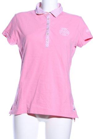 Tommy Hilfiger Polo rosa-bianco motivo a quadri stile casual