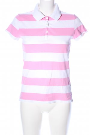 Tommy Hilfiger Polo-Shirt pink-weiß Streifenmuster Casual-Look