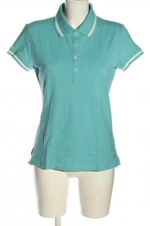 Tommy Hilfiger Polo-Shirt blau-weiß Casual-Look