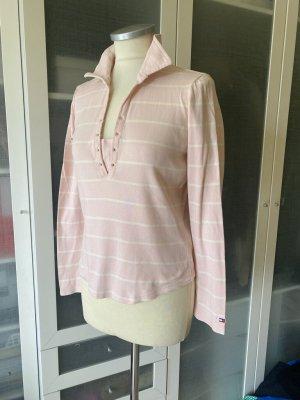 Tommy Hilfiger Polo Shirt Gr. M rosa liniert