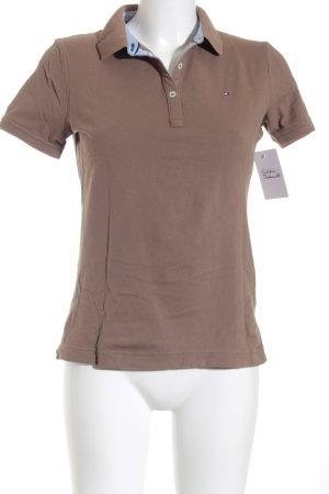 Tommy Hilfiger Polo-Shirt graubraun Casual-Look