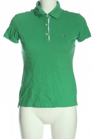Tommy Hilfiger Polo shirt groen casual uitstraling