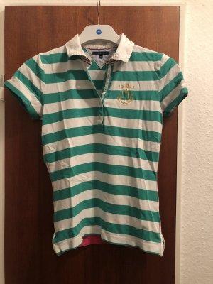 Tommy Hilfiger Polo Shirt grün weiss gestreift