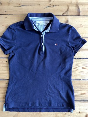 TOMMY HILFIGER Polo-Shirt in Dunkelblau Gr. XS/36