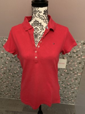 Tommy Hilfiger Polo Shirt pink Gr. L Slim Fit