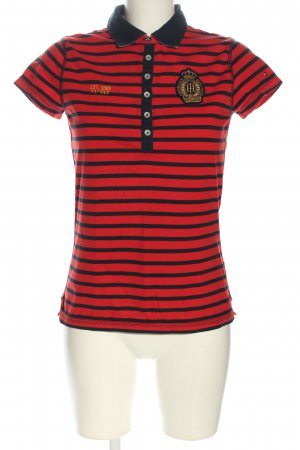 Tommy Hilfiger Polo-Shirt rot-schwarz Allover-Druck Casual-Look