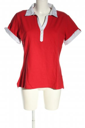 Tommy Hilfiger Polo-Shirt rot-weiß Casual-Look