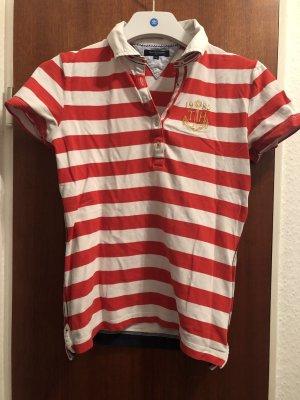 Tommy Hilfiger Polo Shirt rot weiß Streifen