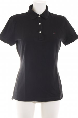 Tommy Hilfiger Polo shirt zwart casual uitstraling