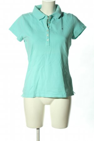 Tommy Hilfiger Polo-Shirt türkis-schwarz Motivdruck Casual-Look