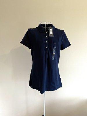 Tommy Hilfiger Polo T-Shirt - Gr. M blau - NEU mit Etikett