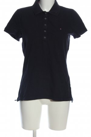 Tommy Hilfiger Polo Top black embroidered lettering casual look