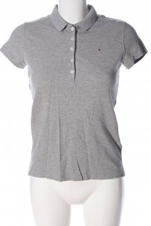 Tommy Hilfiger Polo Top light grey flecked casual look