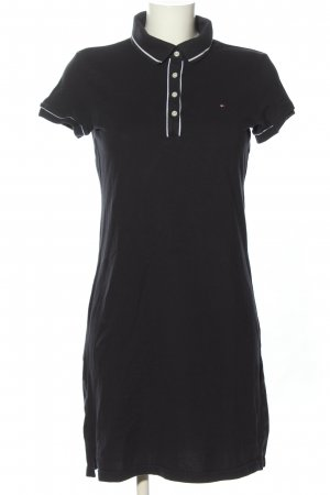 Tommy Hilfiger Polo Dress black embroidered lettering casual look