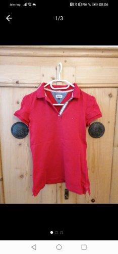 Tommy Hilfiger Camiseta tipo polo rojo ladrillo
