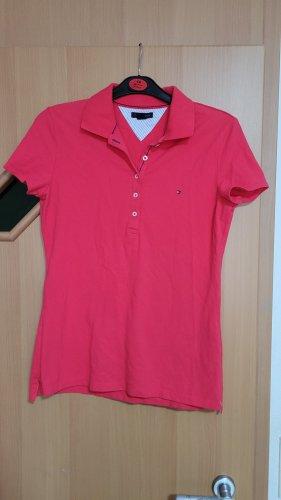 Tommy Hilfiger Polo rosso-magenta Tessuto misto