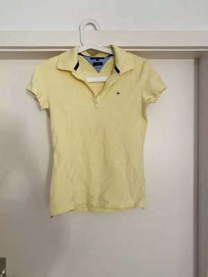 Tommy Hilfiger Camiseta tipo polo amarillo pálido