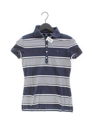 Tommy Hilfiger Poloshirt Größe XS gestreift Kurzarm blau aus Baumwolle