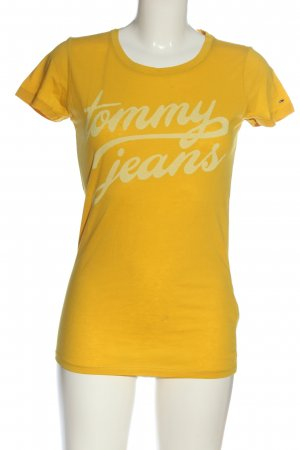 Tommy Hilfiger Print-Shirt blassgelb-wollweiß Motivdruck Casual-Look
