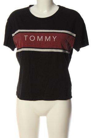 Tommy Hilfiger Print-Shirt braun Schriftzug gedruckt Casual-Look