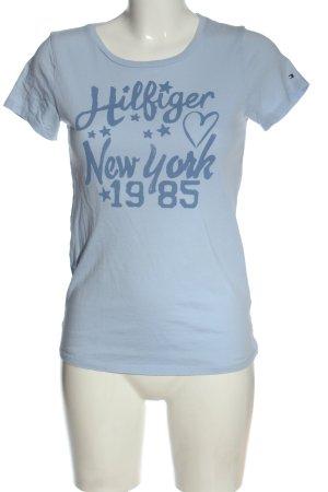 Tommy Hilfiger Koszulka z nadrukiem niebieski Nadruk z motywem W stylu casual