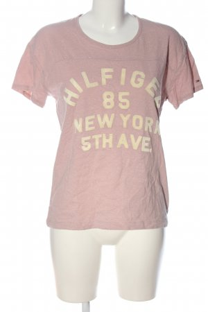 Tommy Hilfiger Print-Shirt pink-creme meliert Casual-Look