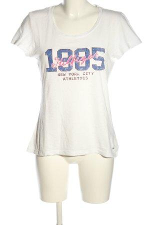 Tommy Hilfiger Print-Shirt weiß-blau Motivdruck Casual-Look