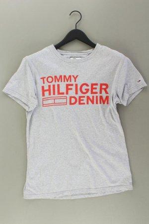Tommy Hilfiger Printshirt Größe M Kurzarm grau aus Baumwolle