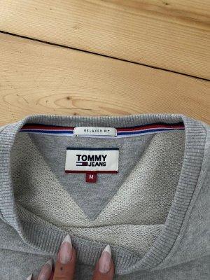 Tommy Hilfiger Sweter oversize jasnoszary