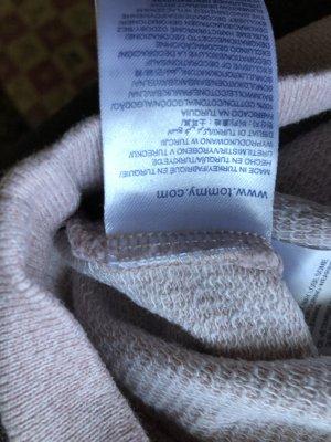 Tommy Hilfiger Fleece trui stoffig roze