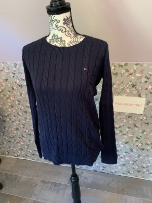 Tommy Hilfiger Jersey trenzado azul oscuro
