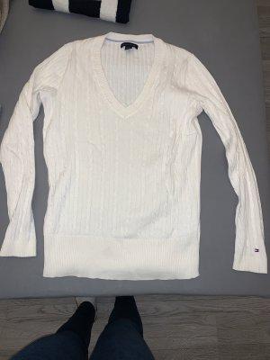 Tommy Hilfiger Maglione con scollo a V bianco sporco