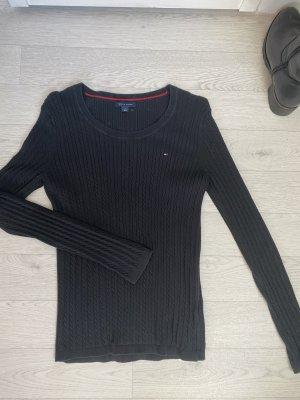 Tommy Hilfiger Jersey trenzado negro